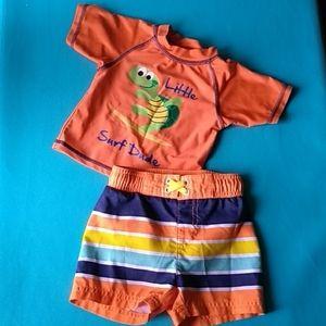 Swim shorts and sun shirt